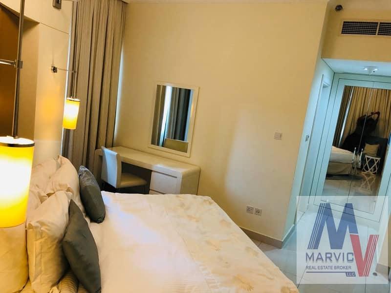 2 Stunning view of Burj Khalifa 1 bedroom Furnished for  RENT