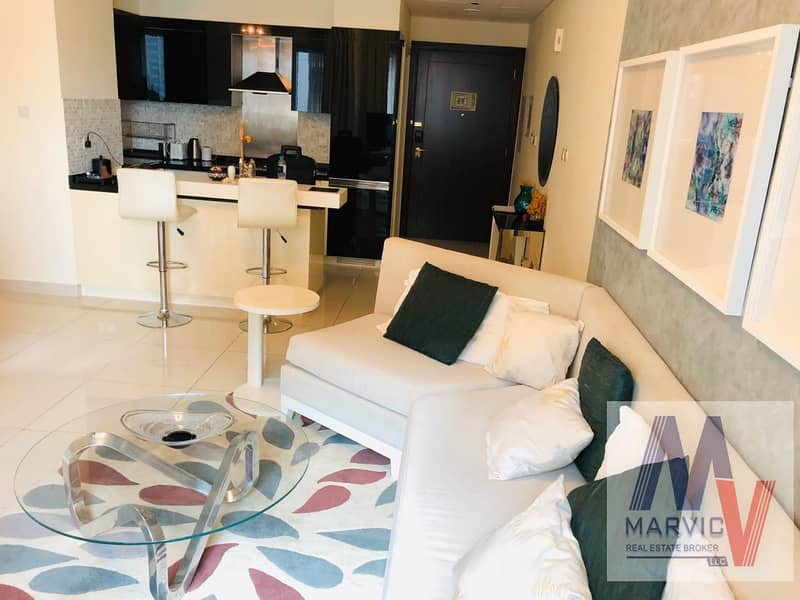 2 Furnished 1BR + Burj Khalifa View for SALE