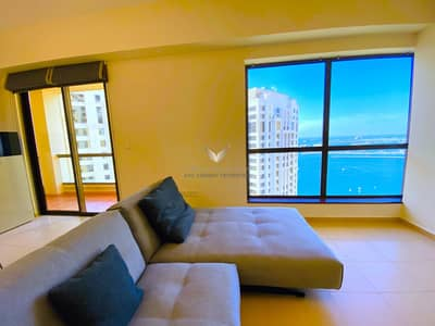 فلیٹ 2 غرفة نوم للايجار في جميرا بيتش ريزيدنس، دبي - BRAND NEW FULLY FURNISHED 2BR | STUNNING MARINA VIEW | HIGER FLOOR