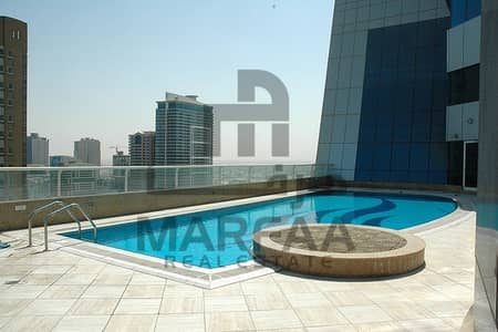 3 Bedroom Flat for Rent in Al Qasba, Sharjah - Huge Flat with Master Bedrooms Maids room-A/C Free -No Commission