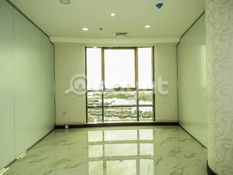 2 Zero Commission Office Space in Dubai Creek Tower with 1 month rent free inclusive chiller and water