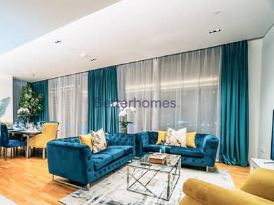 فلیٹ 3 غرف نوم للايجار في جزيرة بلوواترز، دبي - Bluewaters Fully Furnished Marina Sea View