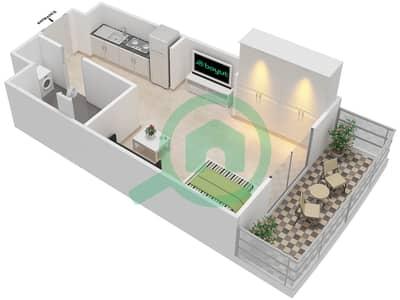 المخططات الطابقية لتصميم النموذج 14 شقة 1 غرفة نوم - بيلا روز