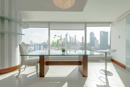 فلیٹ 2 غرفة نوم للايجار في مركز دبي التجاري العالمي، دبي - Ceiling to Floor Windows | DIFC Sky Line