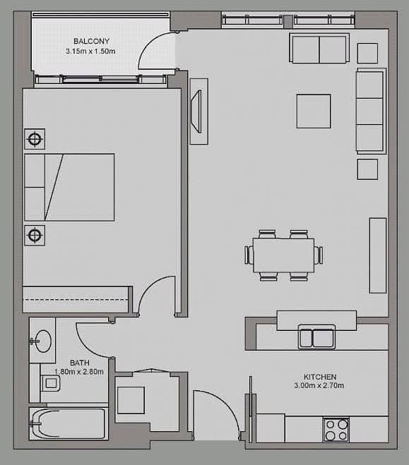 10 One Bedroom | Burj Khalifa View | Vacant