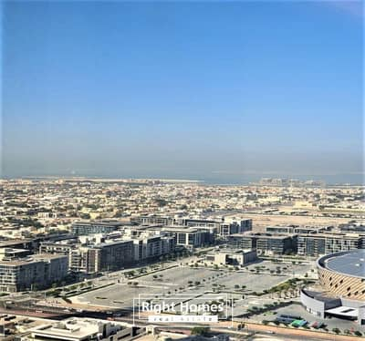 فلیٹ 2 غرفة نوم للايجار في وسط مدينة دبي، دبي - Luxuriious 2BR With Sea View  | Middle Floor | Sky View Tower