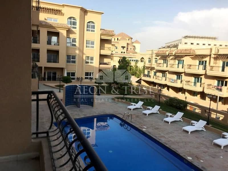Spacious 2 BR Apartment with Open Kitchen I Pool View