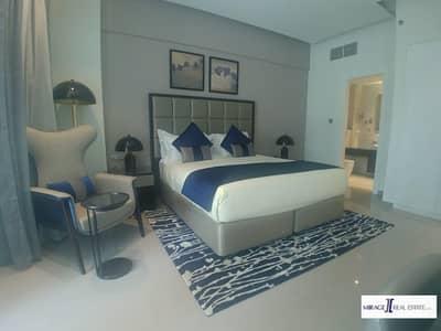 فلیٹ 1 غرفة نوم للايجار في الخليج التجاري، دبي - Fully Furnished One BedRoom For Rent In Damac Majestne Businedd Bay