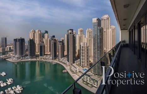 3 Bedroom Flat for Sale in Dubai Marina, Dubai - Amazing Full Marina View | High Floor | Best Layout