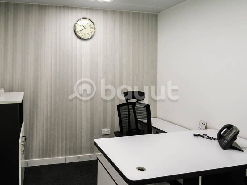 10 Furnished sharing office  200 sqft space for rent in Binary Tower- No commission!