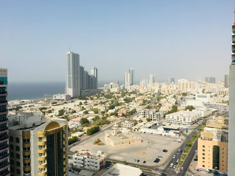 2 bhk full sea view with free parking in Ajman one tower