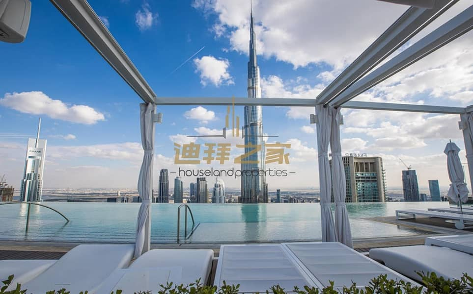 Luxury and Spacious 2BHK with Full Burj  Khalifa View