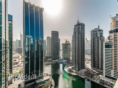 2 Bedroom Flat for Rent in Jumeirah Lake Towers (JLT), Dubai - Extra Large Unit with Stunning Lake & Marina Views