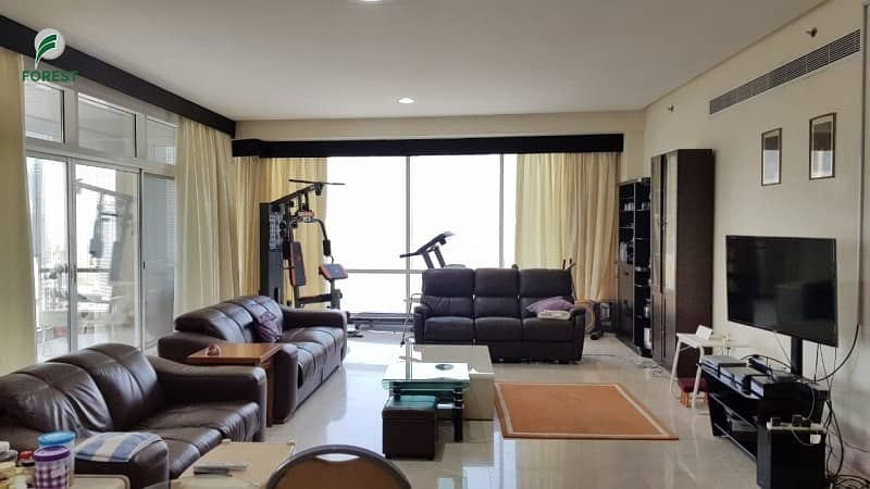 Spacious 3 BHK Apartment with Marina View