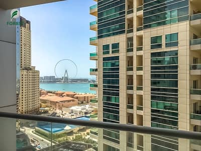 Studio for Rent in Dubai Marina, Dubai - Spacious Studio with Full Sea View Fully Furnished