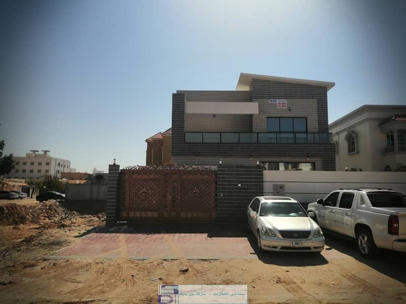 Modern European design villa, large area, close to all services, Al Rawda (Ajman), freehold for all nationalities