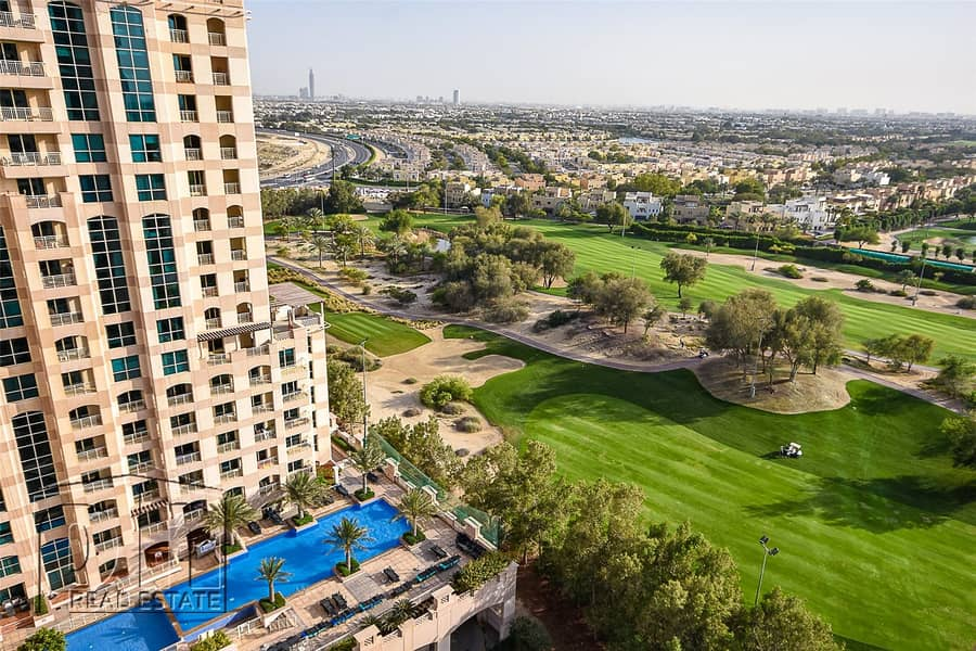 2 1 BR - Furnished-Infinity Pool-Golf View