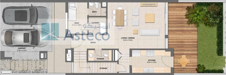 تاون هاوس 3 غرف نوم للايجار في مدن، دبي - Awesome Single Row Townhouse  Next to the Park