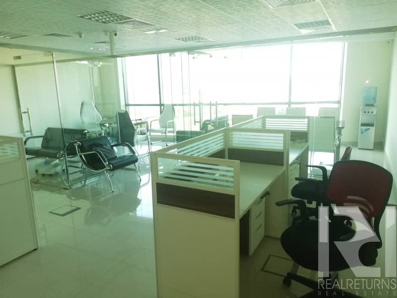 A Full Furnished Office Full Glass Partitions
