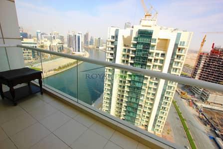 شقة 2 غرفة نوم للايجار في الخليج التجاري، دبي - bright and lake view I 2br+maids room I open kitchen