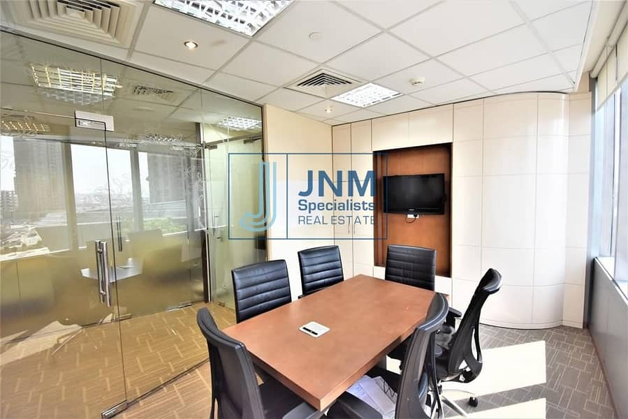 Great Deal Furnished Office  with Partition in Almas Tower