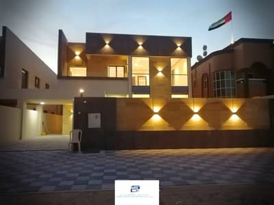 Wonderful villa, European design, luxury, large area, close to all services, the finest areas of Ajman, Al Zahraa freehold for all nationalities