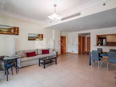 فلیٹ 1 غرفة نوم للايجار في نخلة جميرا، دبي - Furnished Unit | 4 Cheques | Beach Access
