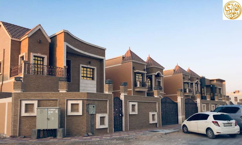 Against the mosque, villa for rent Tani, the price of a Super Deluxe snapshot _ large building area in a very excellent location opposite the Ajman Academy