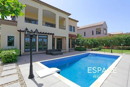 4 Bedroom Villa for Rent in Jumeirah Golf Estate, Dubai - Upgraded Aberdeen with Golf Course Views