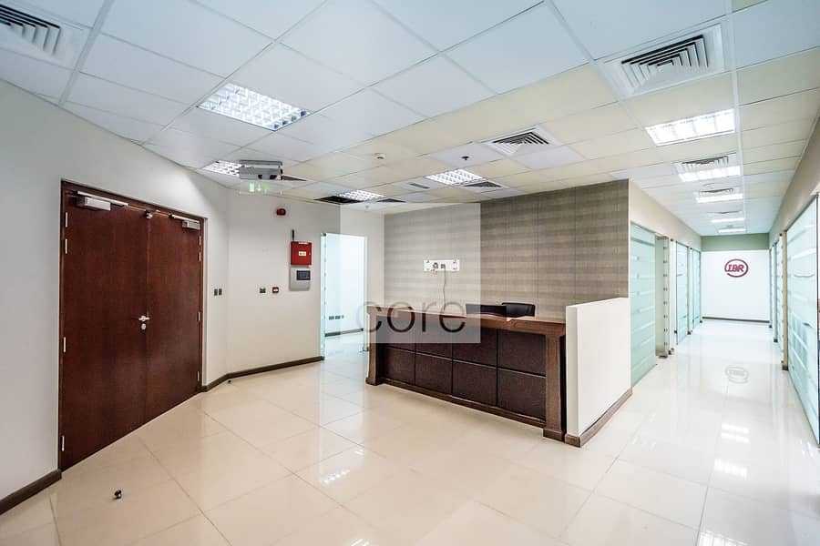 Well Located | Fitted Office with Partitions