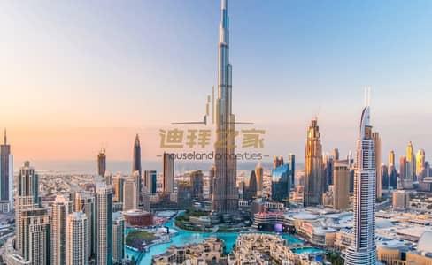 فلیٹ 1 غرفة نوم للايجار في وسط مدينة دبي، دبي - Huge Unfurnished 1BHK  With Amazing View -High Floor