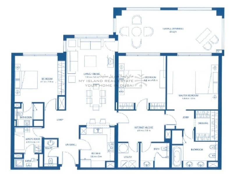 10 Large terrace | Sea view | 2 allocated parking