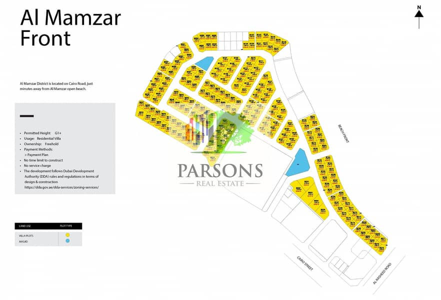 10 Land for sale by Meraas in Dubai Mamzar areas of 13