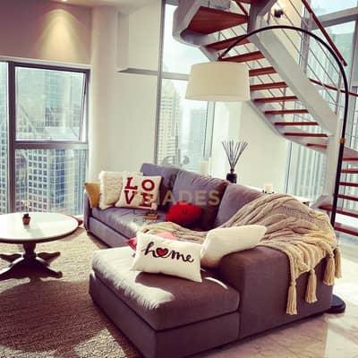 شقة 2 غرفة نوم للايجار في مركز دبي المالي العالمي، دبي - LUXURY FULLY FURNISHED/2 BR DUPLEX/FULL SEA VIEW
