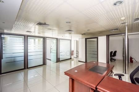 Office for Rent in Jumeirah Lake Towers (JLT), Dubai - Fitted Office With Partitions For Rent In Jlt