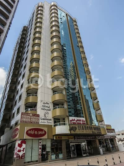فلیٹ 2 غرفة نوم للايجار في الرميلة، عجمان - بدون عمولة ، تكييف ، غاز ، وصيانة مجانية لشقق غرفتين وصالة في برج الشرفاء 1