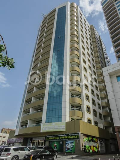 Shop for Rent in Al Rumaila, Ajman - AVAILABLE COMMERCIAL SPACE/OFFICES IN AL SHORAFA TOWER 1, AL RUMAILA 3, AJMAN