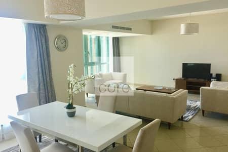 شقة فندقية 3 غرف نوم للايجار في منطقة الكورنيش، أبوظبي - Hotel Apartment | Sea view | Maids Room