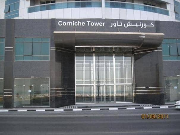 Chiller free!!! 2 bhk for rent with parking  in Corniche tower, Ajman