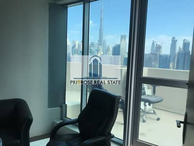Office for Rent in Business Bay, Dubai - PVT Balcony | Multiple Options | Furnished/Partitioned | Full Burj + Canal View