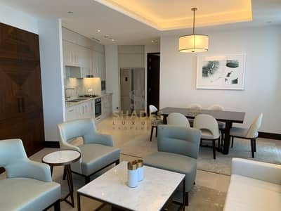 2 Bedroom Apartment for Rent in Downtown Dubai, Dubai - High Floor   Sea View   Ultra Luxurious 2 BR