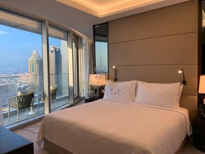 شقة 1 غرفة نوم للايجار في وسط مدينة دبي، دبي - High Floor | Sea View | Ultra Luxurious 2 BR