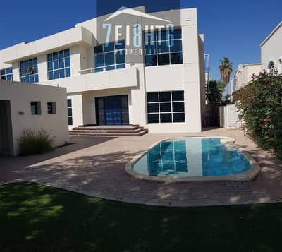 فیلا 5 غرف نوم للايجار في أم سقیم، دبي - Exceptional value: 5 b/r beautifully presented semi-indep villa + maids room + drivers room + s/pool + garden
