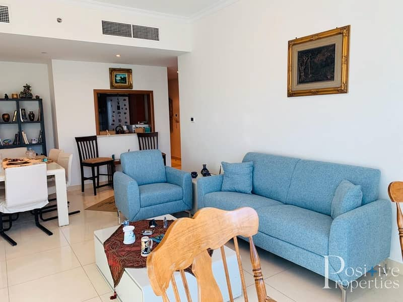 2 BEAUTIFULLY FURNISHED 1 BHK WITH MARINA VIEW IN SABA TOWER