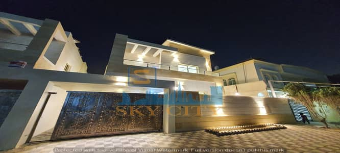 5 Bedroom Villa for Sale in Al Mowaihat, Ajman - Modern villa, personal finishing, corner of two streets, at a price of less than two minutes, on Sheikh Mohammed bin Zayed Street