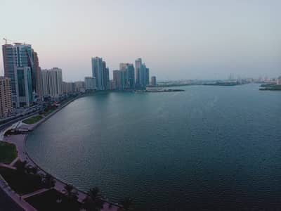 3 Bedroom Apartment for Rent in Corniche Al Buhaira, Sharjah - No Deposit, Chiller free luxury 3bhk apartment with all master at buhaira corniche sharjah