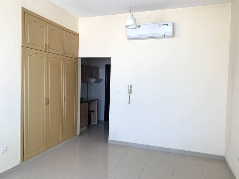 ONE MONTH FREE CHEAP STUDIO FLAT SPLIT AC AT A PRIME LOCATION BRAND NEW ONE IN 17K WITH 6 CHQs AL NAHDA SHARJAH