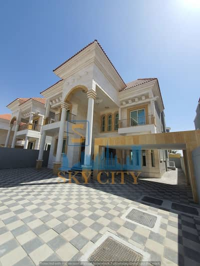 5 Bedroom Villa for Sale in Al Rawda, Ajman - Super Deluxe finishes a service area without down payment in front of a minute mosque from Sheikh Mohammed bin Zayed Street