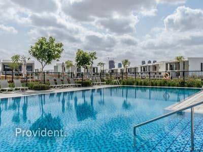 5 Bedroom Villa for Rent in Dubai Hills Estate, Dubai - Views of the Pool and Park | Move-In Now