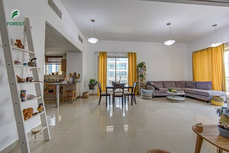 Spacious 2 Bedroom with Marina View Unfurnished